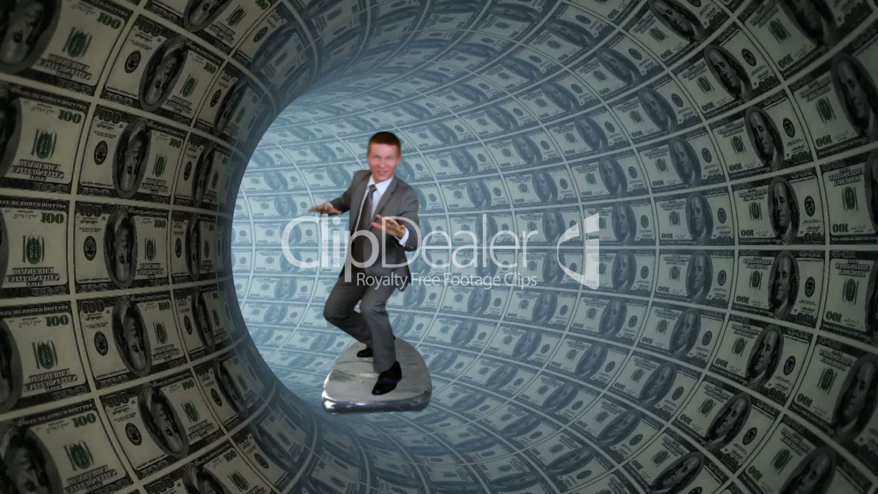 5-2300270-Businessman-Surfing-inside-a-Tube-made-of-US-Dollars